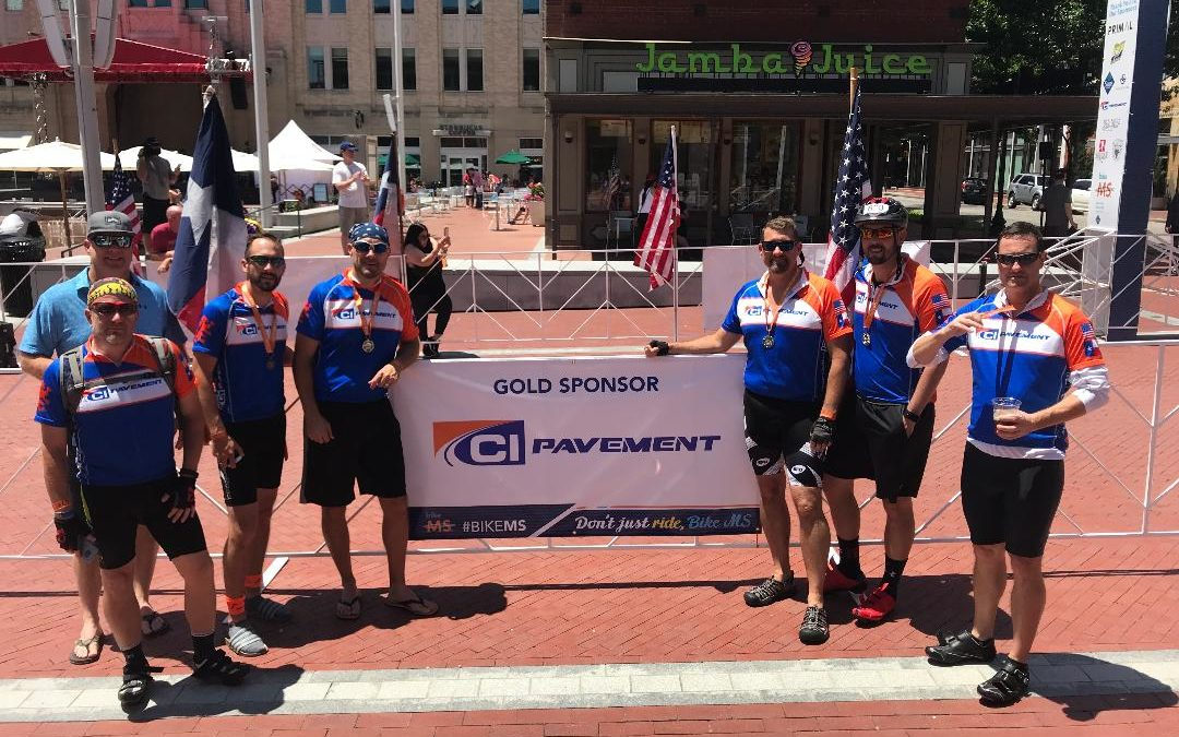 CI Pavement Partners with the National MS Society at Bike MS event