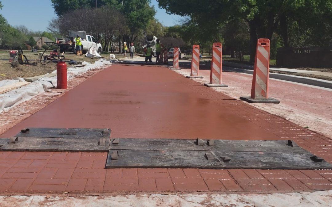 City of McKinney Stamped Concrete